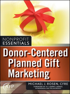 Donor-Centered Planned Gift Marketing