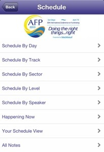 AFP ICON App Schedule